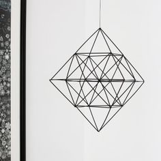 Himmeli Diamond Modern Hanging Mobile Geometric Decor, Geometric Shapes, 3d Shapes, Handmade Ornaments, Handmade Decorations, Diy Luminaire, Diys, Straw Crafts, Hanging Mobile