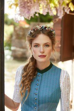Blaue Samt Haarspange Blau Neu Silber Farben Zierde Always Buy Good Uhren & Schmuck Modeschmuck
