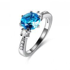 8mm Round Gemstone Paved Cubic Zirconia CZ Engagement Wedding Ring Wholesale China
