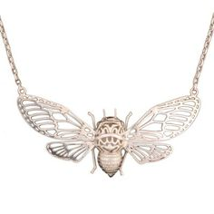 Silver Plated Bee Necklace