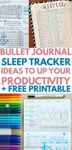 Bullet journal sleep tracker ideas to catch zzz's + free pri