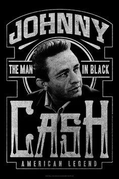 Johnny Cash B/W Poster