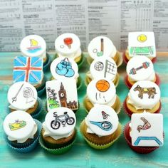 London Cupcakes olympics foodstuff-i-love