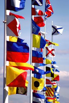 Nautical Flags. Colour & geometry. Communicate celebration, simple and bold branding device