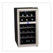 Msy be front vent built in cooler. Koldfront 18 Bottle Dual Zone Thermoelectric Wine Cooler with digital controls & LED lighting. Dual zones allows the Koldfront wine cooler to chill a variety of wines.