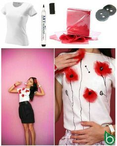 DIY Poppy T-Shirt Tutorial