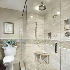 Traditional Shower Tile Bathroom Design Ideas, Remodels & Photos