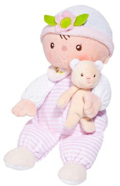Douglas Claire Baby Doll with Teddy Bear