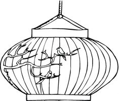 Chinese New Year Lantern Coloring Pages