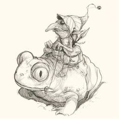 Art by Jean-Baptiste Monge Fantasy Drawings, Fantasy Kunst, Fantasy Art, Art Drawings, Art And Illustration, Illustrations, Magical Creatures, Fantasy Creatures, Elves And Fairies