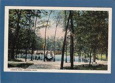 Postcard Loomis Park Jackson MI | eBay