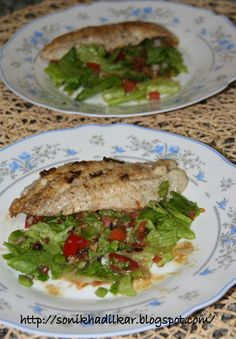 #Grilled #hammour with salad  #fish #seafood