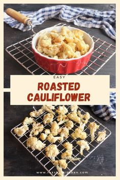 Oven Roasted Cauliflower is a delicious starter or appetizer recipe with cauliflower, in which the cauliflower florets are mixed with garlic, black pepper and Italian seasoning and baked in oven. If you are bored of the regular steamed cauliflower, try this delicious crispy spicy roasted cauliflower. This can be done with cauliflower steaks or whole too. You can add it to soups or salads. This is keto and vegan too. Serve this easy, best and healthy cauliflower recipe for any party. Baked Cauliflower Bites, Easy Cauliflower Recipes, Roasted Cauliflower Steaks, Healthy Party Snacks, Easy Snacks, Vegetarian Italian, Vegetarian Recipes, Vegetarian Starters