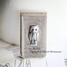 NEW  Owl Money Clip  Made in USA Findings  Antique by grigio, $19.00