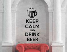 Ebre Vinil Vinilos Adhesivos Bares keep calm and drink beer 03266