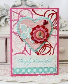 Simply Wonderful Card by Melissa Phillips for Papertrey Ink (December 2012)