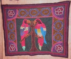 Hand #besticktes #Tuch aus dem #Amazonas, #Aras Inka, Color Stories, Pink Color, Pink Stuff, Rugs, Peru, Scarves, Painting, Home Decor