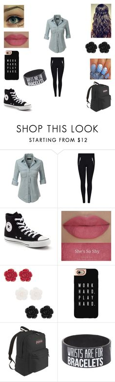 """""""Untitled #109"""" by tasnimkhan-258 on Polyvore featuring LE3NO, MICHAEL Michael Kors, Converse, She's So, Casetify and JanSport"""