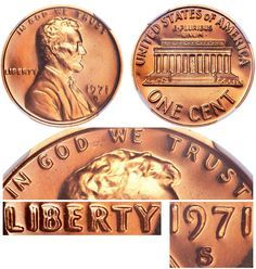 1971 S Lincoln Memorial Cent Small Cents Doubled Die Obverse Copper Alloy Penny