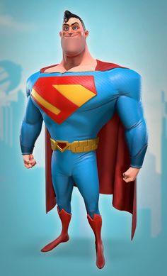 Superman Movies, Superman Man Of Steel, Batman And Superman, Superman Stuff, Cute Monsters Drawings, Steel Dc Comics, Wonder Man, Dc Comics Art, Marvel Comics