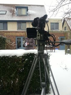 January 26th, 2013. Filming Jose for the Alpe d'HuZes fundraiser clip(s) (Team Openbaar Ministerie Midden-Nederland).  Beautiful snowy day to film in the snow.