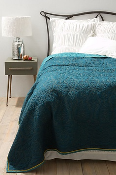New from ANTHROPOLOGIE for sping!!! a knock-off of a vintage coverlet from Europe!!!! are you kidding me....?  Katie you bought the real deal for 40 bucks!!!