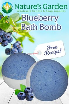 Free Blueberry Bath Bomb Recipe by Natures Garden