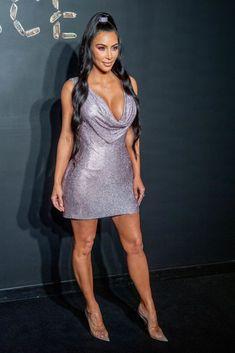 Kim Kardashian and Kanye West arrived at the Versace runway togetherKim Kardashian West and husband Kanye West made a rare appearance together as they attended Kim Kardashian Hot, Kardashian Photos, Kardashian Jenner, Kylie Jenner, Kanye West, Versace Dress, Karen, Tight Dresses, Sexy Legs