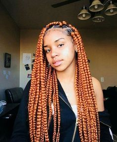 Box braids are a timeless style because of their simplicity but ability to appeal to everyone. Check out our list of 60 box braids hairstyles for black women. Colored Box Braids, Short Box Braids, Blonde Box Braids, Black Girl Braids, Girls Braids, Braids With Color, Chunky Box Braids, Box Braids Hairstyles, Girl Hairstyles