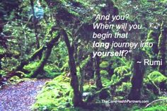 """And you? When will you begin that long journey into yourself?""  ~ Rumi.  20 quotes about getting started..."