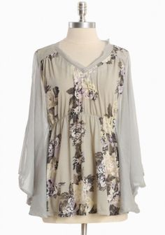 sheer beauty blossom top by Nick & Mo