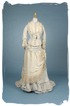 1878 afternoon reception gown made by Mme Vignon