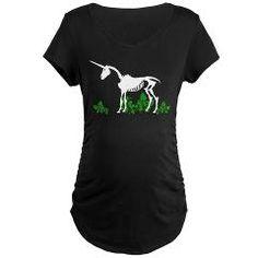 Unicorn Skeleton Maternity Dark T-Shirt> Unicorn Skeleton> Ophelia's Art and T-shirts