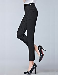 2015 Winter autumn new fashion high waist pencil pants for women office OL style work wear on http://ali.pub/swd5g