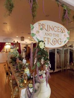 Lovely Princess and the Frog birthday party! See more party ideas at CatchMyParty.com! #partyideas #princess