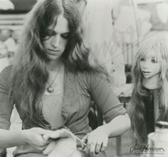 Wendy Froud working on a Gelfling all-things-froud