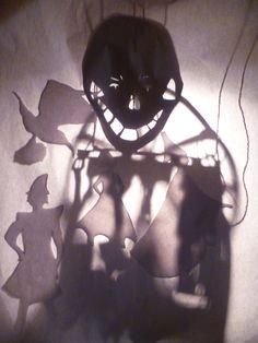 Shadow puppetry experimentation, Wimbledon College of Art © 2011 Sandra Gustafsson
