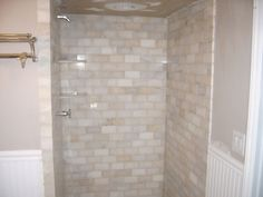 marble subway tile - maybe master bath