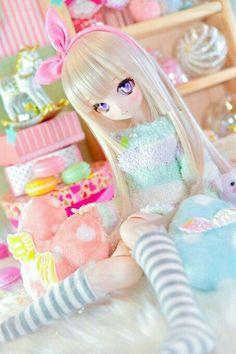 15 Trendy Ideas For Doll Anime Pullip Anime Dolls, Blythe Dolls, Pretty Dolls, Beautiful Dolls, Chibi, Kawaii Doll, Kawaii Anime, Anime Figurines, Dream Doll