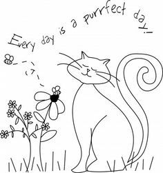 I love kitties and have recently attempted my first free motion machine embroidery. I think this would look great combined with applique