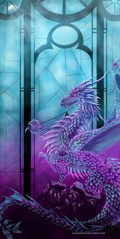 ** Blue & purple.