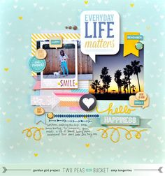#papercraft #scrapbook #layout Shape Up Your Scrapbooking: Everyday Life Matters - Two Peas in a Bucket