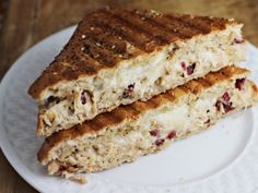 Cranberry and Pecan Turkey Panini with Bacon Spread - Home Cooking Memories