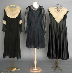 Three Silk & Lace Dresses, 1930s, Augusta Auctions, April 9, 2014 - NYC, Lot 329