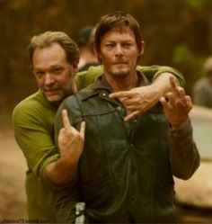 """The """"rock on"""" hand symbol. 