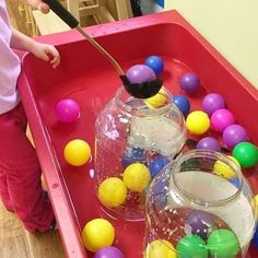 Eye/Hand Coordination & Motor Skills at the Water Table (from Natural Learning v… - Kids&Baby Toys Sensory Table, Sensory Bins, Sensory Activities, Infant Activities, Sensory Play, Activities For Kids, Alphabet Activities, Indoor Activities, Outdoor Toddler Activities