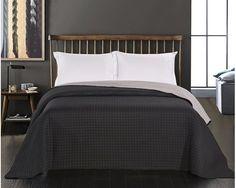 Oboustranný přehoz na postel DecoKing Paul šedý-ocelový-antracit