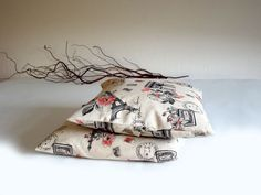 Pillow covers  Paris  home decor  gift by lalunadianna on Etsy