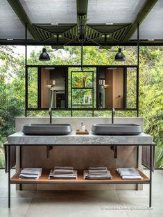 Stunning luxury interior design ideas for modern boutique hotels. Luxury Decor, Luxury Interior Design, Bathroom Interior Design, Interior Architecture, Hotel Lobby Design, Restroom Design, Outdoor Bathrooms, Guest Bathrooms, Toilet Design