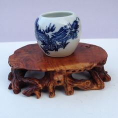 Vintage Chinese  Bird Feeder and Water Vessel  by BluePearEmporium